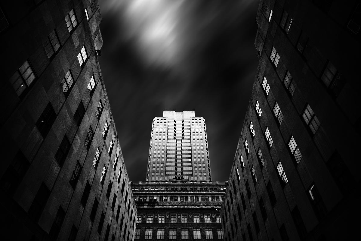 Rockefeller Center Schwarz Weiß