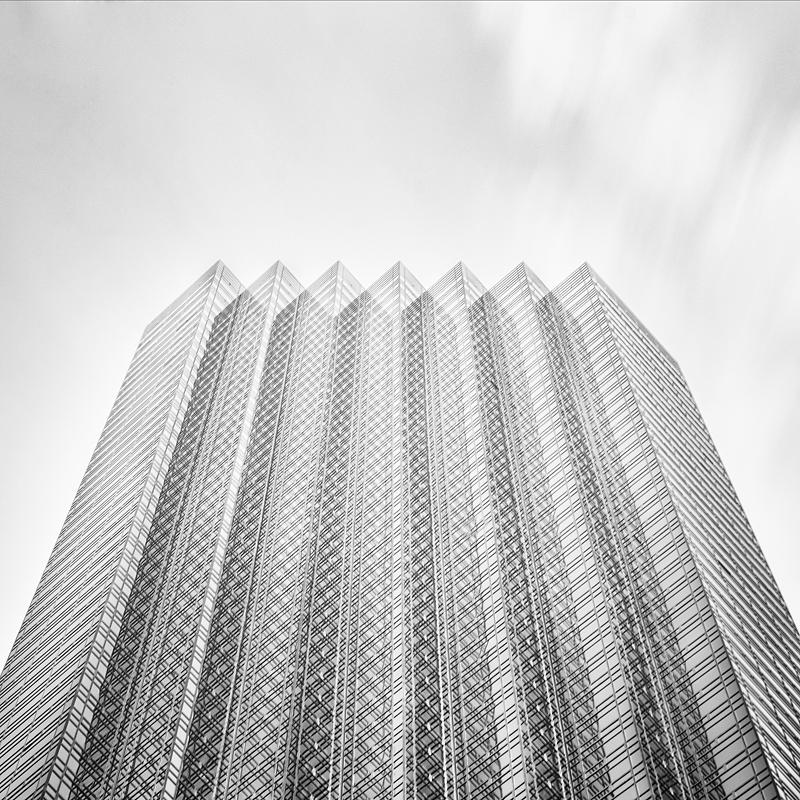 Trump Tower in Schwarz Weiß