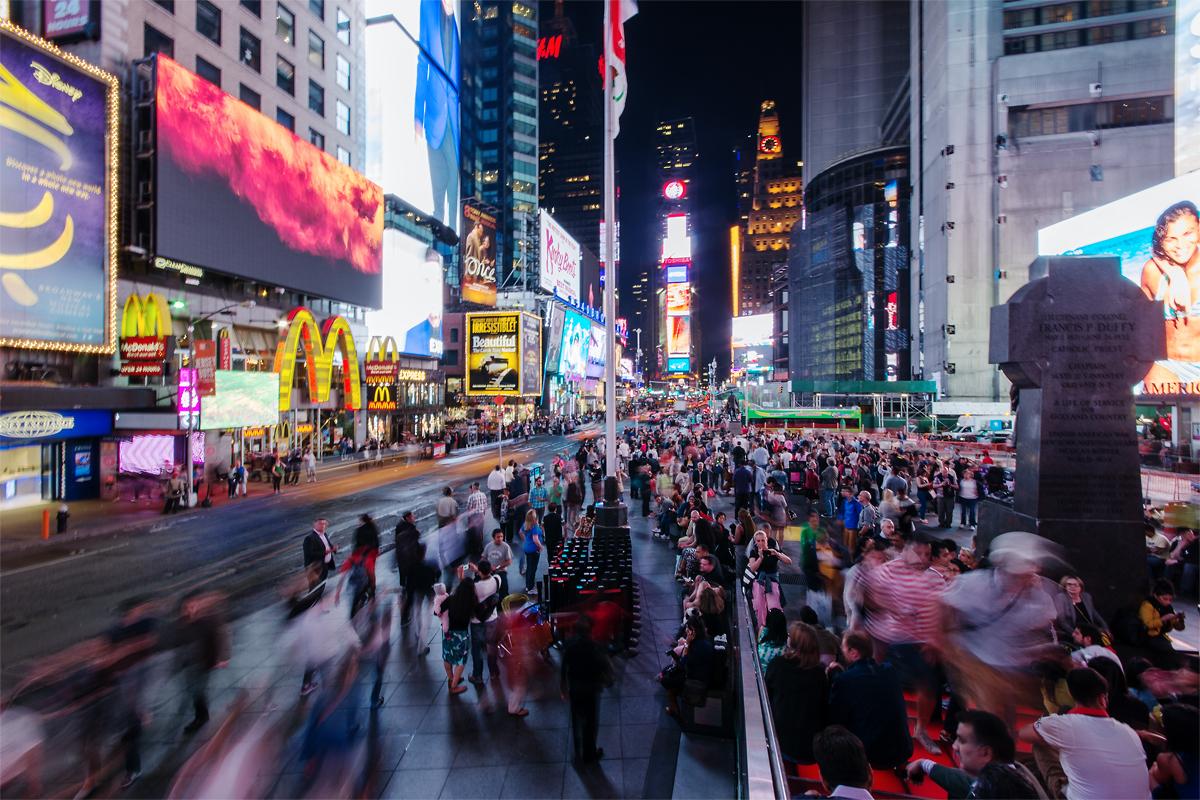 Das Leben auf dem Times Square
