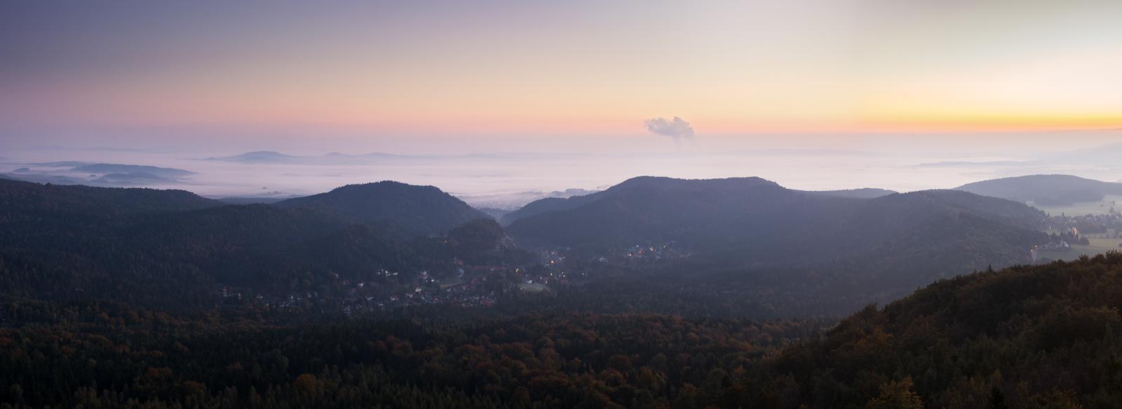 Panorama über Zittau und Oybin